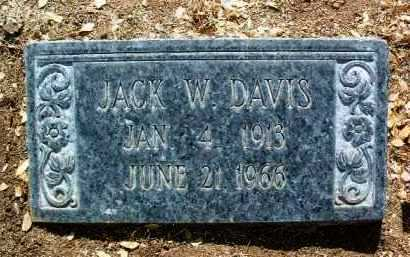 DAVIS, JOHN WYATT (JACK) - Yavapai County, Arizona | JOHN WYATT (JACK) DAVIS - Arizona Gravestone Photos
