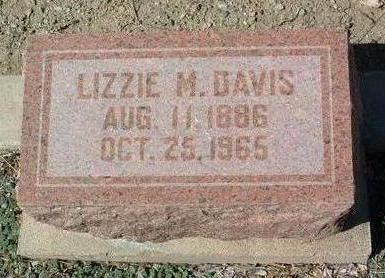 DAVIS, LIZZIE MAY - Yavapai County, Arizona | LIZZIE MAY DAVIS - Arizona Gravestone Photos