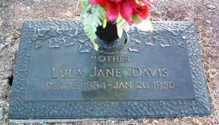 DAVIS, LULA JANE - Yavapai County, Arizona | LULA JANE DAVIS - Arizona Gravestone Photos