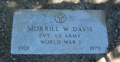 DAVIS, MORRILL W. (DAVE) - Yavapai County, Arizona | MORRILL W. (DAVE) DAVIS - Arizona Gravestone Photos