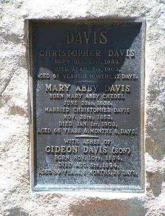 CHEDEL DAVIS, MARY ABBY - Yavapai County, Arizona   MARY ABBY CHEDEL DAVIS - Arizona Gravestone Photos