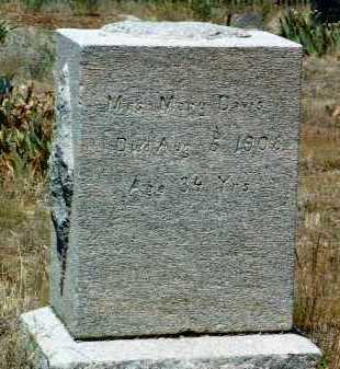 DAVIS, MARY - Yavapai County, Arizona   MARY DAVIS - Arizona Gravestone Photos