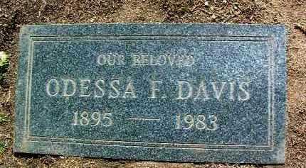 DAVIS, ODESSA FAYE - Yavapai County, Arizona   ODESSA FAYE DAVIS - Arizona Gravestone Photos