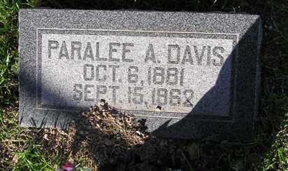 DAVIS, PARALEE AMERICA - Yavapai County, Arizona   PARALEE AMERICA DAVIS - Arizona Gravestone Photos