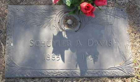 DAVIS, SCHUYLER ANSON - Yavapai County, Arizona   SCHUYLER ANSON DAVIS - Arizona Gravestone Photos