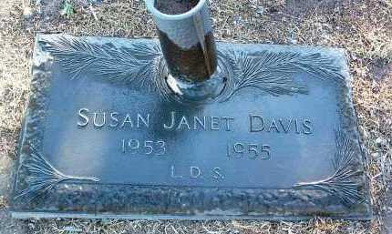 DAVIS, SUSAN JANET - Yavapai County, Arizona   SUSAN JANET DAVIS - Arizona Gravestone Photos