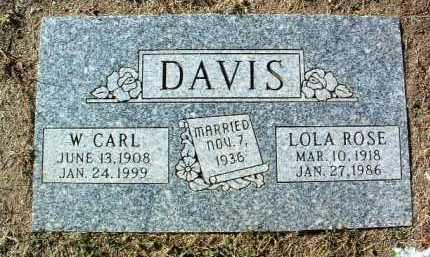 DAVIS, LOLA ROSE - Yavapai County, Arizona | LOLA ROSE DAVIS - Arizona Gravestone Photos