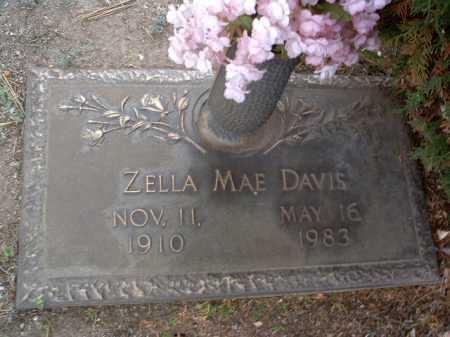 DAVIS, ZELLA MAE - Yavapai County, Arizona   ZELLA MAE DAVIS - Arizona Gravestone Photos