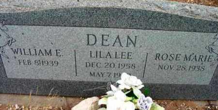 DEAN, LILA  LEE - Yavapai County, Arizona | LILA  LEE DEAN - Arizona Gravestone Photos