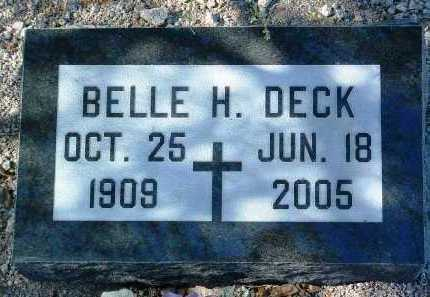 HERSHKOWITZ DECK, BELLE - Yavapai County, Arizona   BELLE HERSHKOWITZ DECK - Arizona Gravestone Photos
