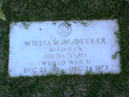 DECKER, WILLIAM W. - Yavapai County, Arizona | WILLIAM W. DECKER - Arizona Gravestone Photos