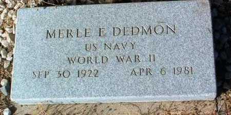 DEDMON, MERLE E. - Yavapai County, Arizona | MERLE E. DEDMON - Arizona Gravestone Photos