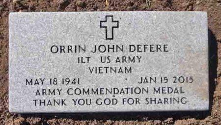 DEFERE, ORRIN JOHN - Yavapai County, Arizona   ORRIN JOHN DEFERE - Arizona Gravestone Photos