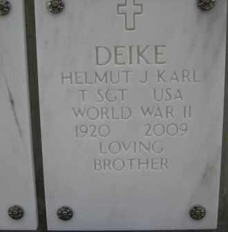 DEIKE, HELMUT J KARL - Yavapai County, Arizona   HELMUT J KARL DEIKE - Arizona Gravestone Photos