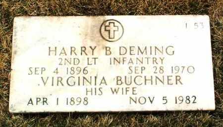 BUCHNER DEMING, VIRGINIA - Yavapai County, Arizona | VIRGINIA BUCHNER DEMING - Arizona Gravestone Photos