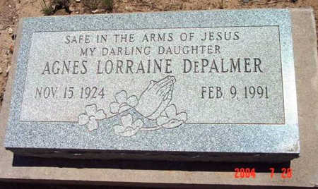 DEPALMER, AGNES LORRAINE - Yavapai County, Arizona   AGNES LORRAINE DEPALMER - Arizona Gravestone Photos