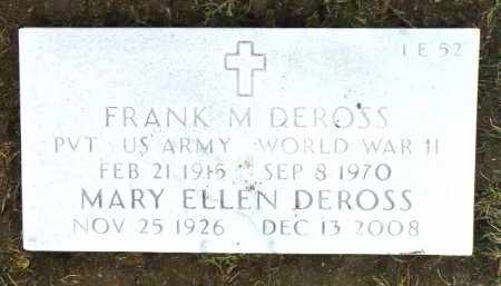 DEROSS, MARY ELLEN - Yavapai County, Arizona | MARY ELLEN DEROSS - Arizona Gravestone Photos