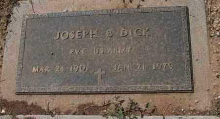 DICK, JOSEPH BAILEY - Yavapai County, Arizona   JOSEPH BAILEY DICK - Arizona Gravestone Photos