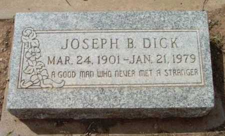 DICK, JOSEPH BAILEY - Yavapai County, Arizona | JOSEPH BAILEY DICK - Arizona Gravestone Photos