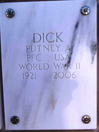 DICK, PUTNEY A. - Yavapai County, Arizona | PUTNEY A. DICK - Arizona Gravestone Photos