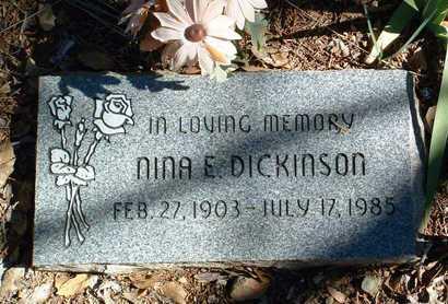 ALLEN DICKINSON, NINA E. - Yavapai County, Arizona | NINA E. ALLEN DICKINSON - Arizona Gravestone Photos