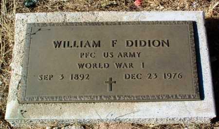 DIDION, WILLIAM FREDERICK - Yavapai County, Arizona   WILLIAM FREDERICK DIDION - Arizona Gravestone Photos