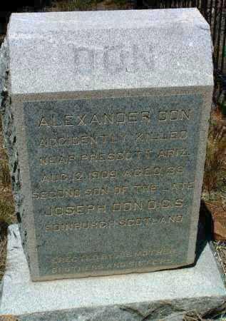 DON, ALEXANDER - Yavapai County, Arizona | ALEXANDER DON - Arizona Gravestone Photos