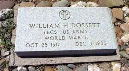 DOSSETT, WILLIAM H. - Yavapai County, Arizona | WILLIAM H. DOSSETT - Arizona Gravestone Photos