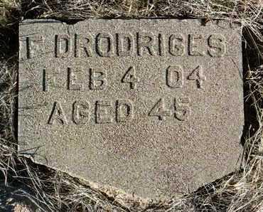DRODRIGES, F. - Yavapai County, Arizona | F. DRODRIGES - Arizona Gravestone Photos