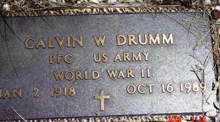 DRUMM, CALVIN W. - Yavapai County, Arizona   CALVIN W. DRUMM - Arizona Gravestone Photos
