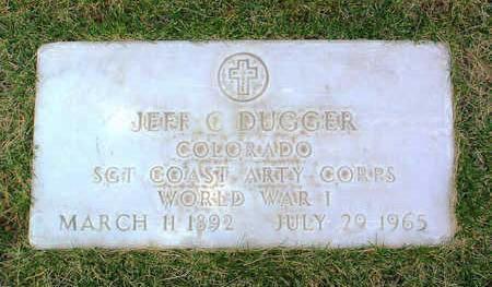 DUGGER, JEFF  C. - Yavapai County, Arizona | JEFF  C. DUGGER - Arizona Gravestone Photos