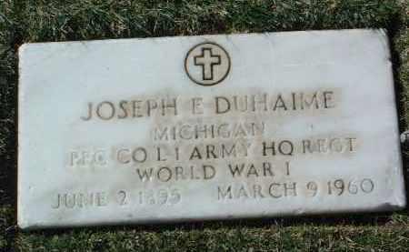 DUHAIME, JOSEPH EVANGELIST - Yavapai County, Arizona | JOSEPH EVANGELIST DUHAIME - Arizona Gravestone Photos