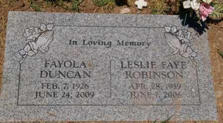 DUNCAN, FAYOLA - Yavapai County, Arizona   FAYOLA DUNCAN - Arizona Gravestone Photos