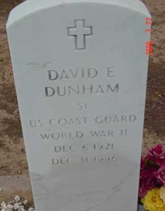 DUNHAM, DAVID E. - Yavapai County, Arizona | DAVID E. DUNHAM - Arizona Gravestone Photos