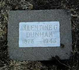 DUNHAM, VALENTINE G. - Yavapai County, Arizona | VALENTINE G. DUNHAM - Arizona Gravestone Photos