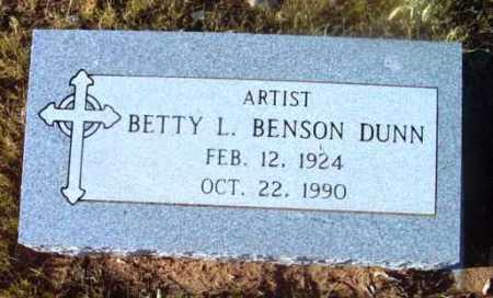 BENSON DUNN, BETTY L. - Yavapai County, Arizona   BETTY L. BENSON DUNN - Arizona Gravestone Photos