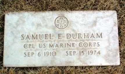 DURHAM, SAMUEL E - Yavapai County, Arizona | SAMUEL E DURHAM - Arizona Gravestone Photos