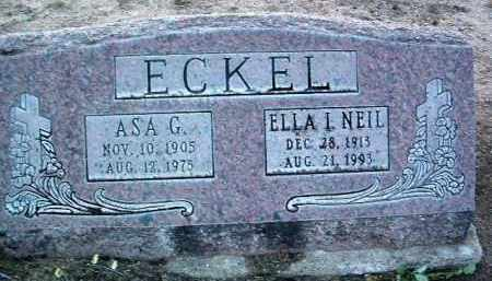 ECKEL, ASA GAIL - Yavapai County, Arizona | ASA GAIL ECKEL - Arizona Gravestone Photos