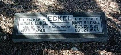 ECKEL, JOHN OVERTON - Yavapai County, Arizona | JOHN OVERTON ECKEL - Arizona Gravestone Photos