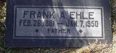 EHLE, FRANK AINSWORTH - Yavapai County, Arizona | FRANK AINSWORTH EHLE - Arizona Gravestone Photos