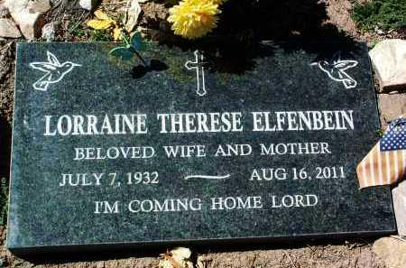 ELFENBEIN, LORRAINE T. - Yavapai County, Arizona | LORRAINE T. ELFENBEIN - Arizona Gravestone Photos