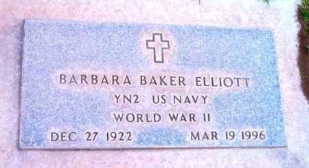 ELLIOTT, BARBARA BAKER - Yavapai County, Arizona | BARBARA BAKER ELLIOTT - Arizona Gravestone Photos