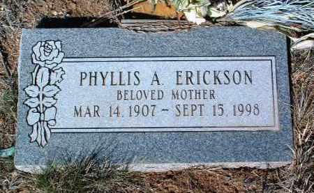 ERICKSON, PHYLLIS ALMA - Yavapai County, Arizona   PHYLLIS ALMA ERICKSON - Arizona Gravestone Photos