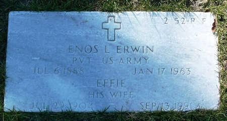 ERWIN, ENOS LEO - Yavapai County, Arizona   ENOS LEO ERWIN - Arizona Gravestone Photos