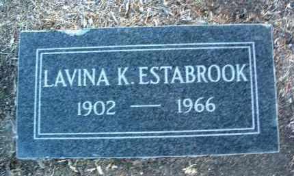 KING ESTABROOK, LAVINA JANE - Yavapai County, Arizona | LAVINA JANE KING ESTABROOK - Arizona Gravestone Photos