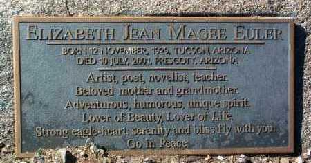 MAGEE EULER, ELIZABETH JEAN - Yavapai County, Arizona | ELIZABETH JEAN MAGEE EULER - Arizona Gravestone Photos