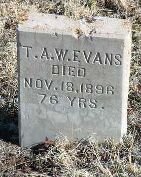 EVANS, T. A. W. - Yavapai County, Arizona | T. A. W. EVANS - Arizona Gravestone Photos