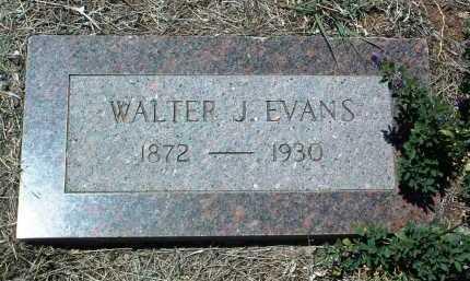 EVANS, WALTER J. - Yavapai County, Arizona   WALTER J. EVANS - Arizona Gravestone Photos