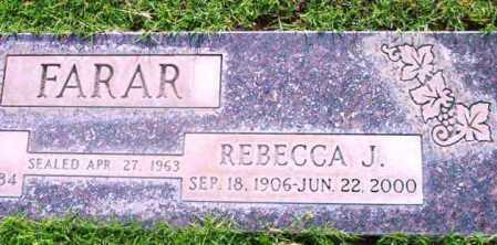 FARAR, REBECCA J. - Yavapai County, Arizona | REBECCA J. FARAR - Arizona Gravestone Photos
