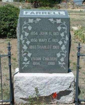 FARRELL, SHARLOT - Yavapai County, Arizona   SHARLOT FARRELL - Arizona Gravestone Photos